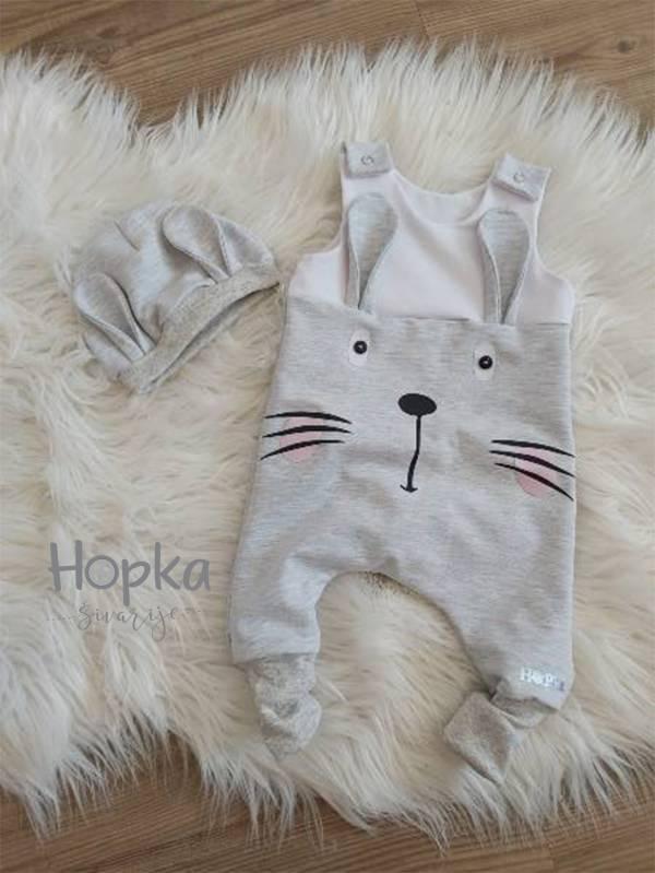 Komplet sivi zajček Hopka-2