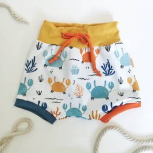 Kratke hlače baggy Medy Pisane rakovice Hopka
