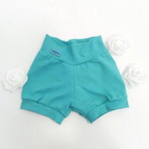 Kratke hlače enobarvne turkizne Hopka
